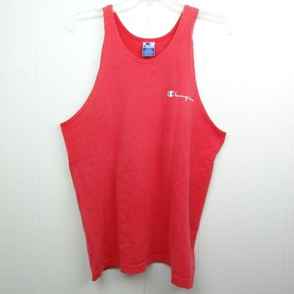 ae88de41 Champion Shirts | Vintage 90s Tank Top Spell Out Sleeveless | Poshmark